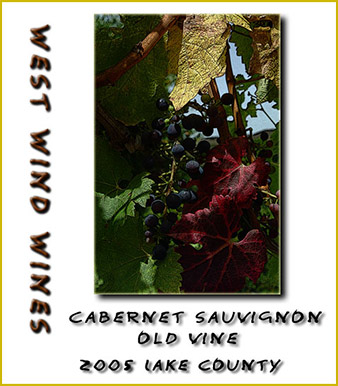 2005 Old Vine Cabernet Sonoma County - West Wind Wines