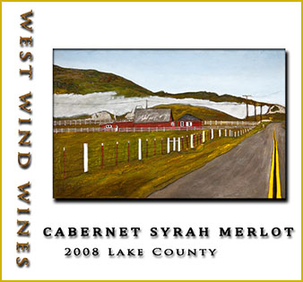 2008 Cabernet Syrah Merlot Lake County - West Wind Wines